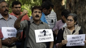 Members of the committee that framed the draft said it also proposes the constitution of a media protection unit in every district. Image used for representational purpose.(Photo: AP)