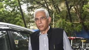 Vinod Rai arrives for the General Body meeting at BCCI headquarters, in Mumbai, Wednesday, Oct. 23, 2019.(PTI)