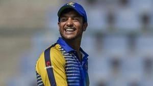 Mayank Agarwal in action during Vijay Hazare Trophy.(Twitter/ Image)