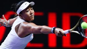 Japan's Naomi Osaka in action against Czech Republic's Petra Kvitova.(REUTERS)