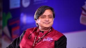 Senior Congress leader Shashi Tharoor reacted to the ongoing trend of '#WaPoDeathNotices' tweets on Twitter on Monday, terming them as 'hilarious'.(Amal KS/HT PHOTO)