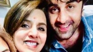 Ranbir Kapoor and Neetu Singh in a new picture.