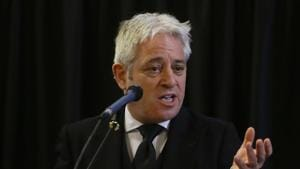 John Bercow stepped down on Thursday after 10 years as speaker of Britain's House of Commons(AP)