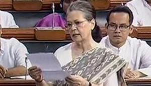 Sonia Gandhi on Thursday accused the Modi government of diluting the powers of the Information Commissioners through amendments to the RTI Act(PTI)