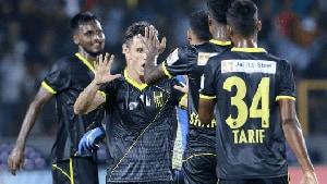 Hyderabad FC defeated Kerala Blasters.(ISL)
