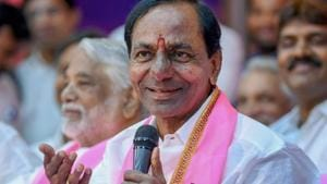 Chandrasekhar Rao on Saturday announced the privatisation of 50% of the state's bus services and asked striking employees of Telangana State Road Transport Corporation (TSRTC) to return to work by midnight of November 5.(PTI)