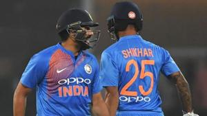 File image of India cricketers Rohit Sharma and Shikhar Dhawan.(Getty Images)
