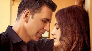 Akshay Kumar and Nupur Sanon in the Filhall poster.