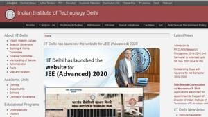 IIT Delhi has launched the website for JEE (Advanced) 2020 examination.(jeeadv.ac.in)