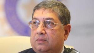 A file photo of N Srinivasan.(Hindustan Times)