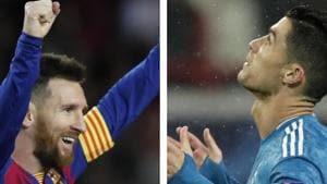 Lionel Messi and Cristiano Ronaldo.(AP/HT Collage)