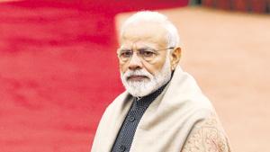 PM Modi chaired a Cabinet meeting before leaving for Brazil.(Raj K Raj/HT PHOTO)
