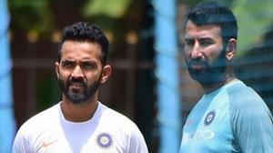 File image of India cricketers Ajinkya Rahane and Cheteshwar Pujara.(PTI)