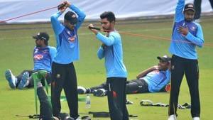 India vs Bangladesh:Bangladesh players indulge in fun football session in Indore -Watch