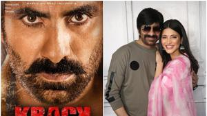 Krack stars Ravi Teja and Shruti Haasan in prominent roles.