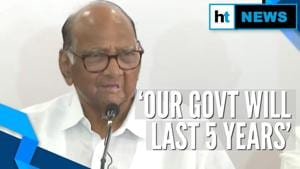 'Government formation process underway, will last 5 years': Sharad Pawar