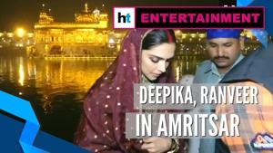 Deepika, Ranveer offer prayers at Golden Temple day after wedding anniversary