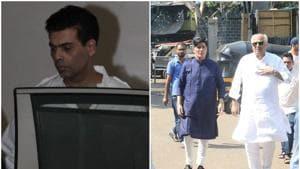 Karan Johar and Boney Kapoor visited Manish Malhotra at his residence.(Varinder Chawla)