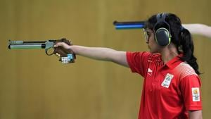 File image of Manu Bhaker(Getty Images)