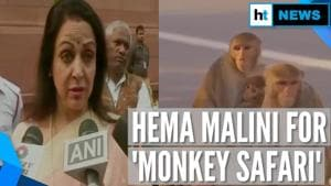 'Monkeys want samosas now, not fruits': Hema Malini pitches monkey safari