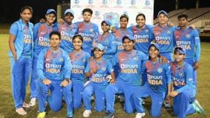 Off-spinner Anuja Patil was the pick of the Indian bowlers as she picked two wickets by conceding just three runs in her three overs(Twitter)
