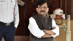 Shiv Sena leader Sanjay Raut has said that as parties with diverse ideologies are coming together, the process of government formation is taking time.(Sanjeev Verma/HT PHOTO)