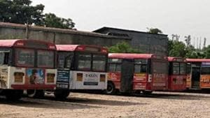 The RTC employees, who had been on strike since October 5, had fought a bitter legal battle in the high court, even as chief minister K Chandrasekhar Rao refused to consider any of their demands including merger of RTC with the government, revision of their pay scales and recruitment of new staff.(ANI PHOTO.)