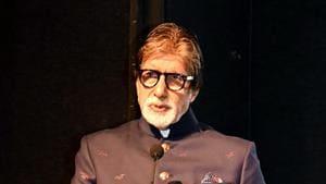 Amitabh Bachchan addressing at the Dada Saheb Phalke Retrospective, during the 50th International Film Festival of India (IFFI-2019), in Panaji on Wednesday.(ANI)