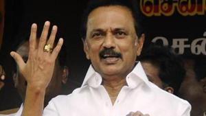 DMK President MK Stalin has raised Lankan Tamils issue in a statement(ANI Photo/File)