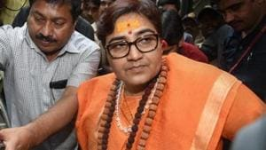 The 2008 Malegaon blast case accused Sadhvi Pragya Singh Thakur leaves the special NIA court after she was charged for terror conspiracy, murder, and other related offenses, in Mumbai.(Photo: PTI)