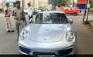 Porsche car owner slapped with Rs 9.8 lakh fine(ANI/Twitter)
