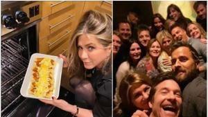 Jennifer Aniston made some enchiladas for Jimmy Kimmel.