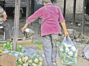 Even after a ban being imposed on the use of polythene bags in district, its rampant use continues across the Royal City.