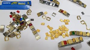 The smuggled gold was moulded in the form of wires concealed in toys and parts of bracelets.(HT Photo)