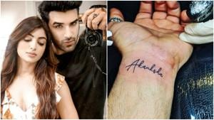 Paras Chhabra got his girlfriend Akanksha Puri's name tattooed on his wrist earlier this year.