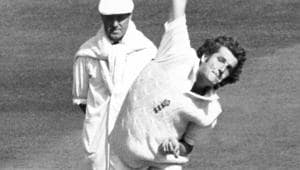 In this file photo dated June 3, 1983, showing England fast bowler Bob Willis.(AP)