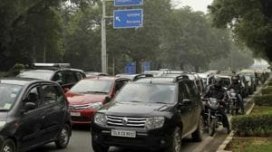 A view of SP Marg, New Delhi.(HT Photo)