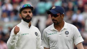 File image of India skipper Virat Kohli with Jasprit Bumrah.(Getty Images)