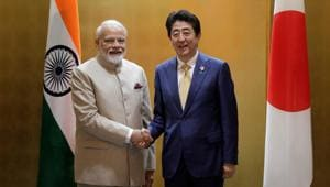 The meeting between Prime Minister Narendra Modi and his Japanese counterpart Shinzo Abe will be held in Guwahati and the two leaders will also travel to Imphal to visit the Peace Museum.(REUTERS PHOTO.)