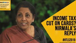 #HTLS2019: Watch FM Nirmala's response on whether govt will cut income tax