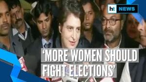 'Urge women to fight elections, take leadership from men': Priyanka Gandhi