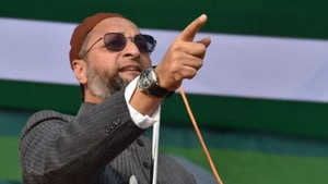 """During the debate in the Lok Sabha on Monday, Owaisi tore up the bill, alleging that it was aimed at making Muslims """"stateless"""". He also warned that it would lead to another partition. ( Photo @asadowaisi)"""