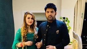 Kapil Sharma with wife Ginni Chatrath