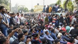 Unlike Bengali majority Barak Valley, the passage of the Citizenship Amendment Bill (CAB) has sparked off mass protests in the Assamese-speaking Brahmaputra Valley in Assam.(PTI)