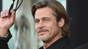 Brad Pitt arrives at the special screening of Ad Astra.(AP)