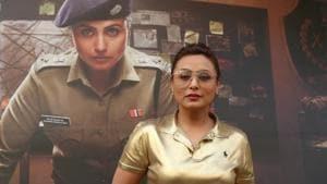 Rani Mukerji on the sets of actress Neha Dhupia's chat show