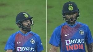 Watch: Kohli's animated reaction after smacking Kesrick Williams for 6