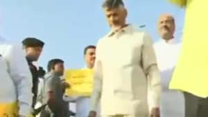 Chandrababu Naidu, the leader of the opposition in the Andhra assembly, accused the YS Jagan Mohan Reddy government of taking the state backwards rather than developing it.(Screengrab)