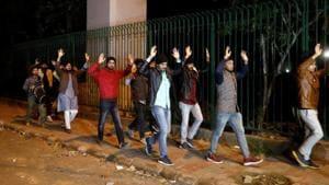 Students leaving Jamia Millia Islamia, New Delhi, December 15, 2019(REUTERS)
