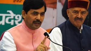 BJP national spokesperson Shahnawaz Hussain took the fight to the Congress over the Citizenship Amendment Act(HT Photo/File)